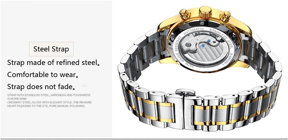2017 KINYUED skeleton Tourbillon mechanische horloge waterdicht - Herenhorloges - Foto 5