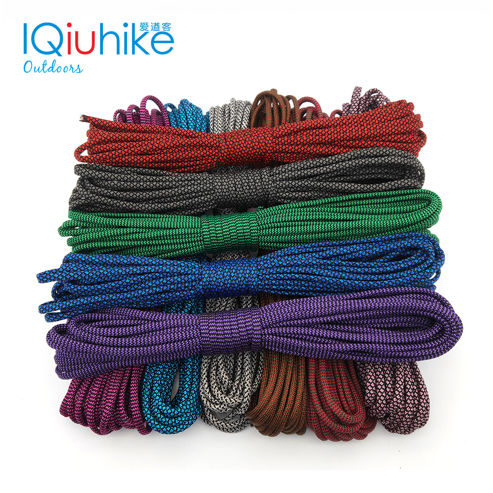 IQiuhike 550 Paracord Parachute Cord Lanyard Tent Rope Guyline Mil Spec Type III 7 Strand 100FT For Hiking Camping 208 Colors