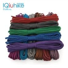 Iqiuhike corda de paraquedas paracord 550, corda de barraca, cordão guyline, tipo iii, 7 fios de 100ft para caminhadas, camping, 208 cores