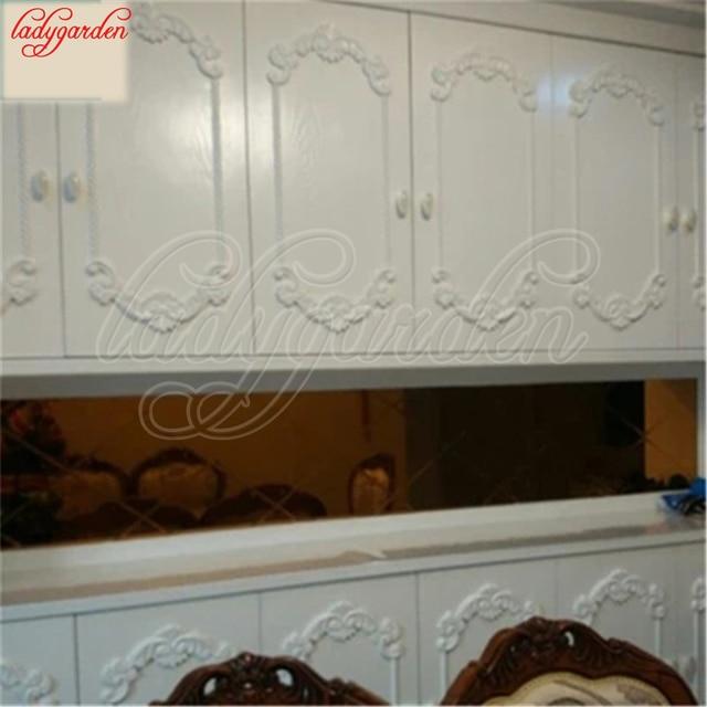 Woodcarving Corner Decal Wooden Applique Frame Wall Door Woodcarving Decal Wooden Figurines Home Decoration Furniture Appliques 5