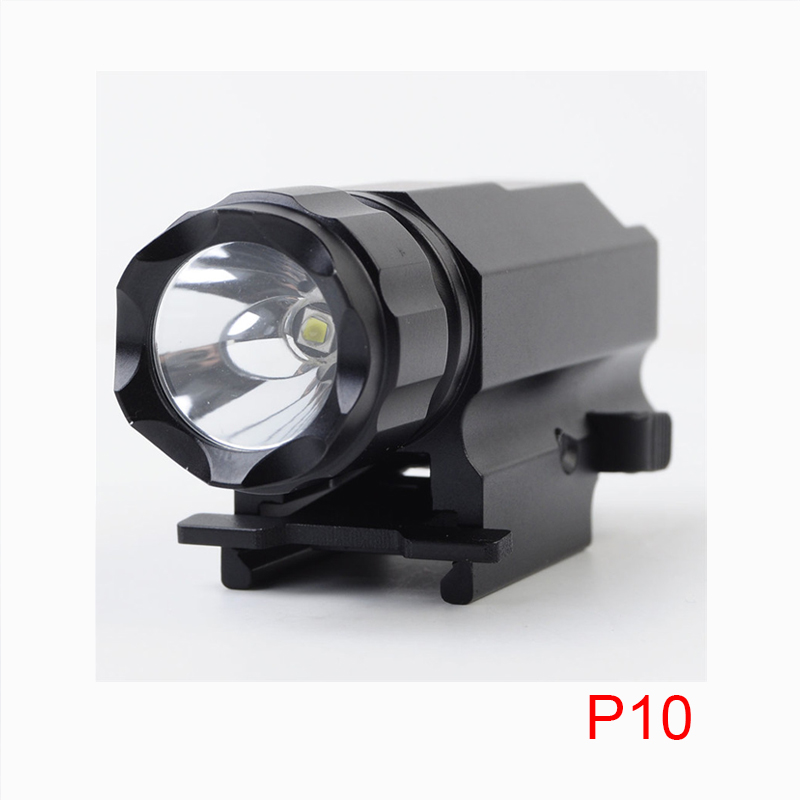 Tactical Pistol Flashlight with Constant and Strobe Mode Cree XP-G R5 LED Hand Gun Light 320 Lumens Quick Release 20mm Picatinny