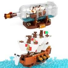 1078 шт. Minecrafted Onepiece Лодка в бутылке строительные блоки Совместимые Legoed город пиратский корабль интерактивные игрушки для детей