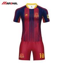 2019 Summer Soccer Jerseys Football Uniform Sublimation Print Maker Camiseta Futbol Breathable Kits Clothes Sports Suit