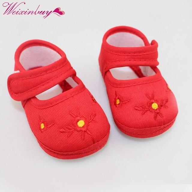 חדש אביב תינוק נעלי הליכונים הראשונים כותנה החלקה הוכחת Sapato Infantil לדדות בנות בני נעלי Y13