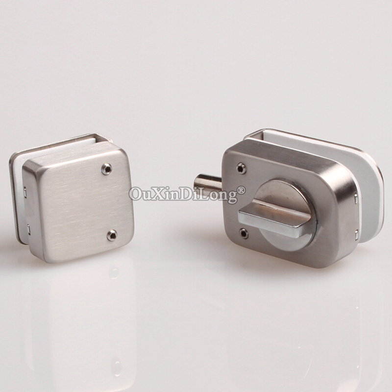 Wholesale 10PCS Glass Door Stainless Steel Lock, Bathroom Glass Door Latche ,Shower Room Bolt Without Hole No Key JF1698