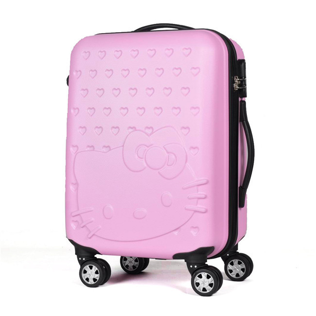 Middle Girl Anime Hello Kitty Rolling Luggage/Children