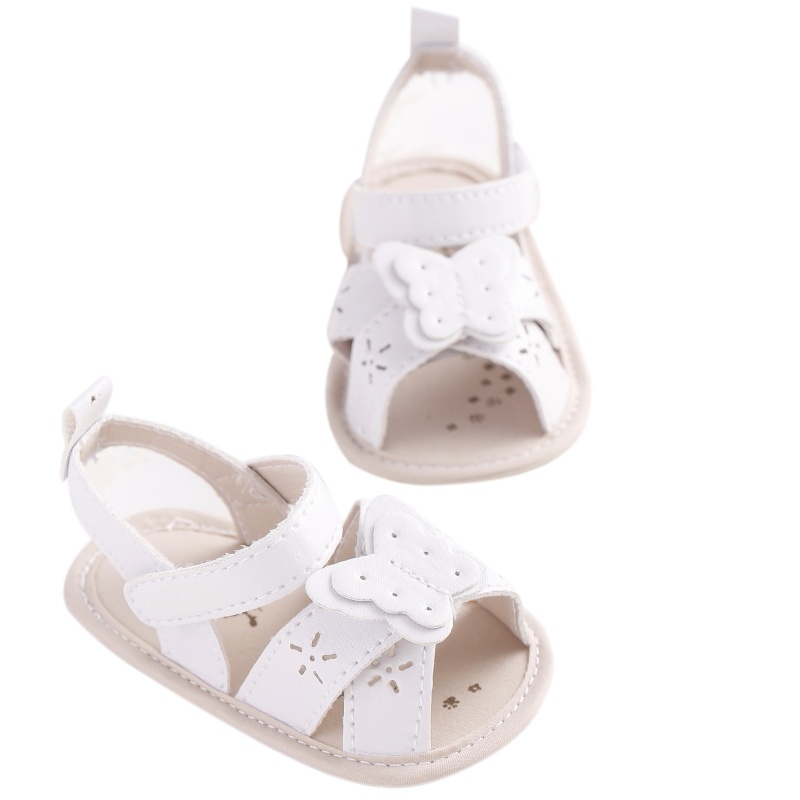 Baby Kid Girl Butterfly Hollow Pu Leather Soft Shoes Prewalker Beach First Walkers New