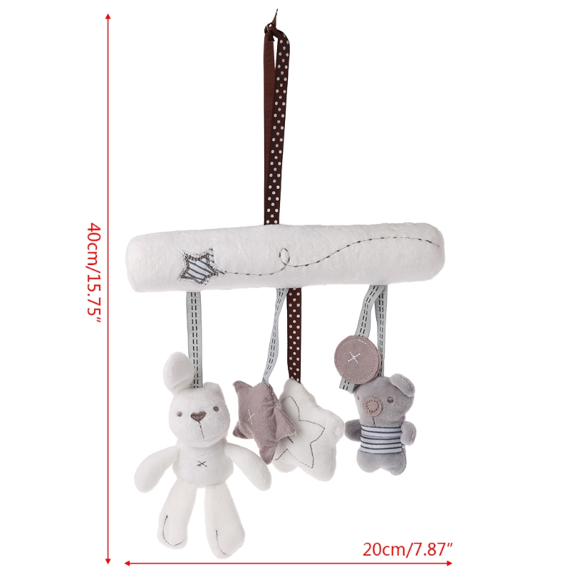 Plush Doll Hanging Bed Baby Stroller Car Toys Cute Rabbit Star Stuffed Cradles 'lrz #6