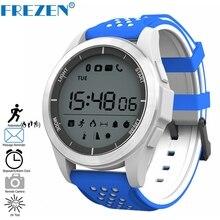 Купить с кэшбэком FREZEN F3 Bluetooth Sport Smart Watch Altitude Meter Thermometer IP68 Waterproof Pedometer Smartwatch for IOS Android Stopwatch