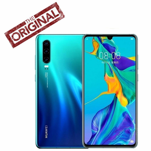 Original New Official Huawei P30 Mobile phone Octa Core Kirin 980 Android 9.1OS 6.1'' OLED 2340X1080P 4 Cameras 40MP IP53 NFC