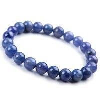 8mm Natural Tanzanite Blue Gemstone Bracelet Round Beads Stretch Woman Beads Femme Man Crystal Birthday GiftAAAAA