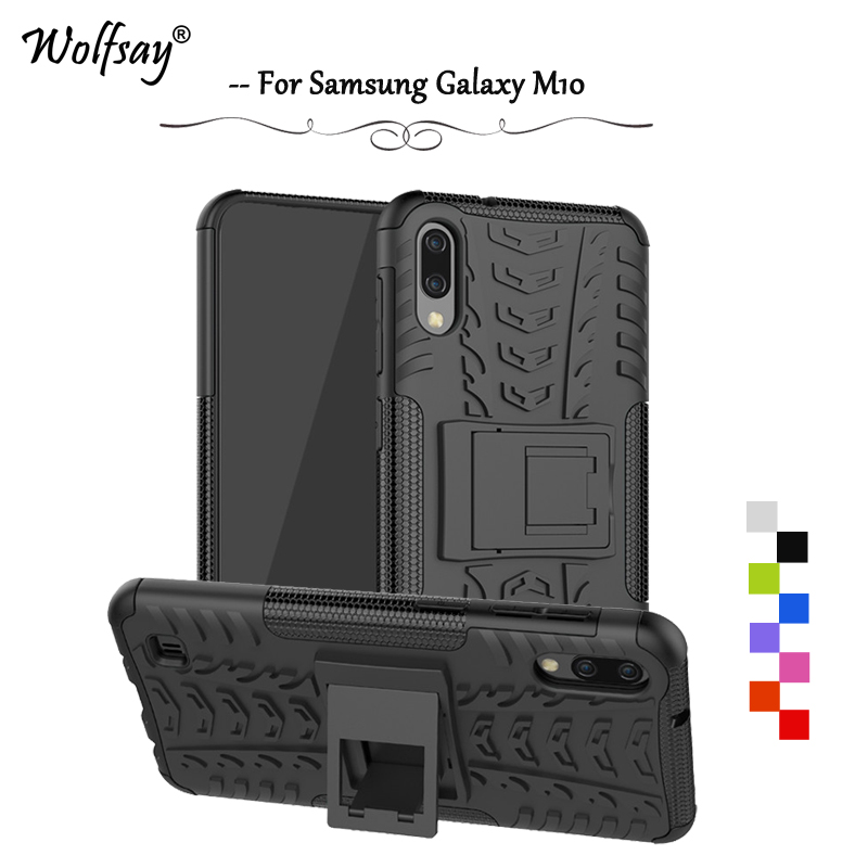 For Samsung Galaxy M10 Case Shockproof Armor Rubber Hard Phone Case For Samsung Galaxy M10 Back Cover For Samsung M10 M 10 Shell