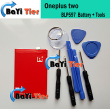 Oneplus two Battery 100% New 3200mAh large capacity Li-ion BLP597 Battery Replacement For oneplus 2 Cellphone + Free Tools