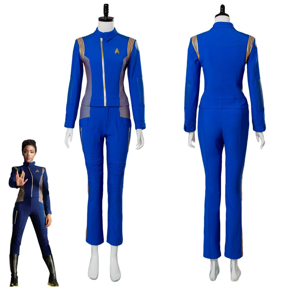 Star Trek Discovery Cosplay Michael Burnham Cosplay Costume Adult Women Crewman Uniform Halloween Carnival Cosplay Costumes