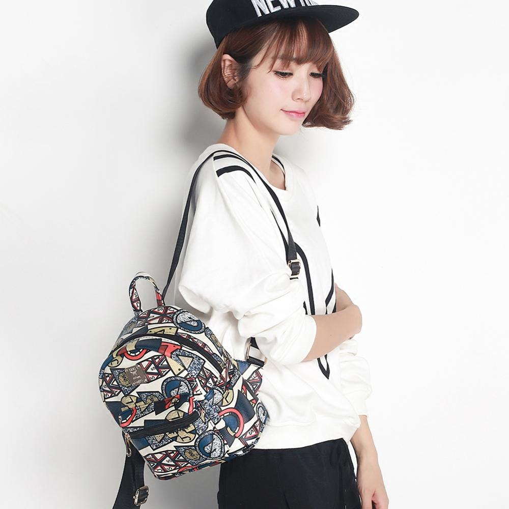 Mini Printing Backpack Girl Student Backpack Kawaii Cartoon Wemen Spring And Summer New Korean Fashion Hand