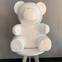 Polystyrene Styrofoam White Foam Bear Mold DIY Valentines Day Party Gifts DC120
