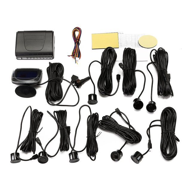 Lowest Price 1 Set Parking Sensors Rear Front Car Backup Reversing LCD Monitor Display Radar System Kit