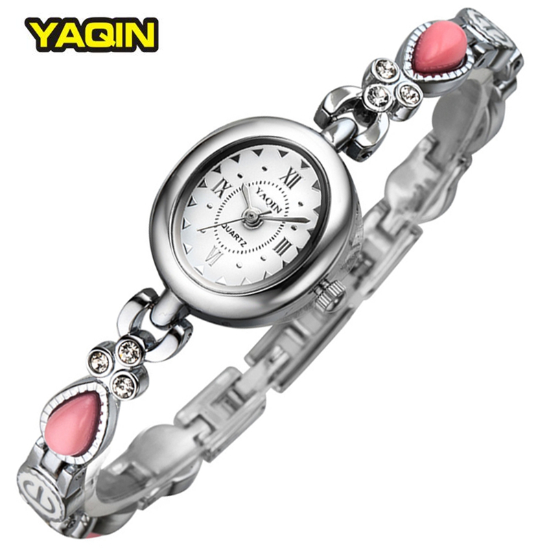 Women Watch Brand YAQIN Steel Bracelet Watches Lady Fashion Luxury Clocks Casual Relogio Feminino Girls Dress 5 Colors