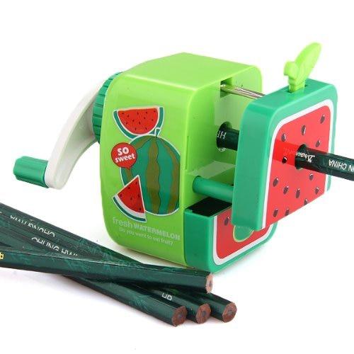 2018 New Affordable Watermelon Pencil Sharpener Hand Crank Manual School Stationery Kids Random Color 2016 new affordable electric pencil sharpener automatic desktop school stationery office kids