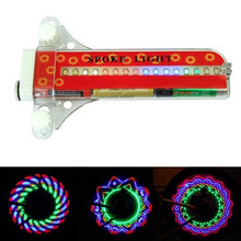 1 pc 32 LED Wheel Signal Lights Colorful Rainbow Riding Bikes Bicycles Cycling Fixed on Cycle Spoke Light