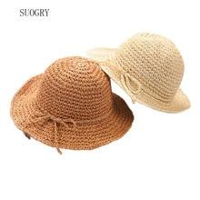 SUOGRY 2018 Fashion New Design High Quality Handmade Straw Hat Parent-child Treehat Formal Summer Sun Hats Beach