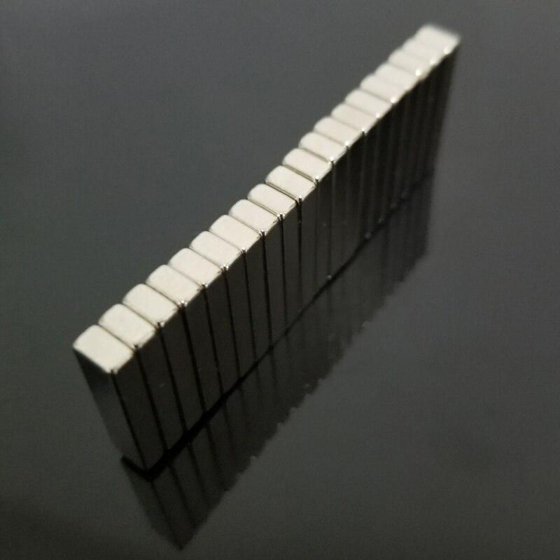 20 шт. квадратные тонкие неодимовые магниты 20x5x3 мм супер сильные кубические блоки редкоземельные магниты на холодильник магнитные материалы