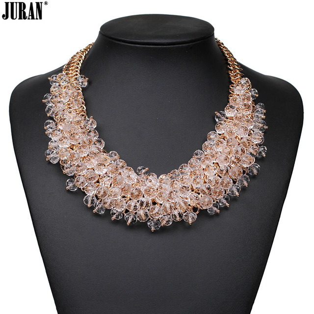 a20a15e05bf9 2017 nueva exquisito lujo elegante noble crystal beads choker collar collar  de cadena de moda tendencia