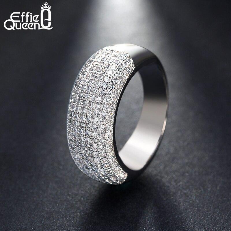 Effie Queen Әйелдер үйлену тарту Finger Ring Trendy - Сәндік зергерлік бұйымдар - фото 4