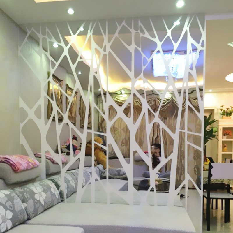 diy creative geometric patterns mirror surface wall sticker for rh mycreativedeals com creative handmade room decoration ideas easy creative room decorations