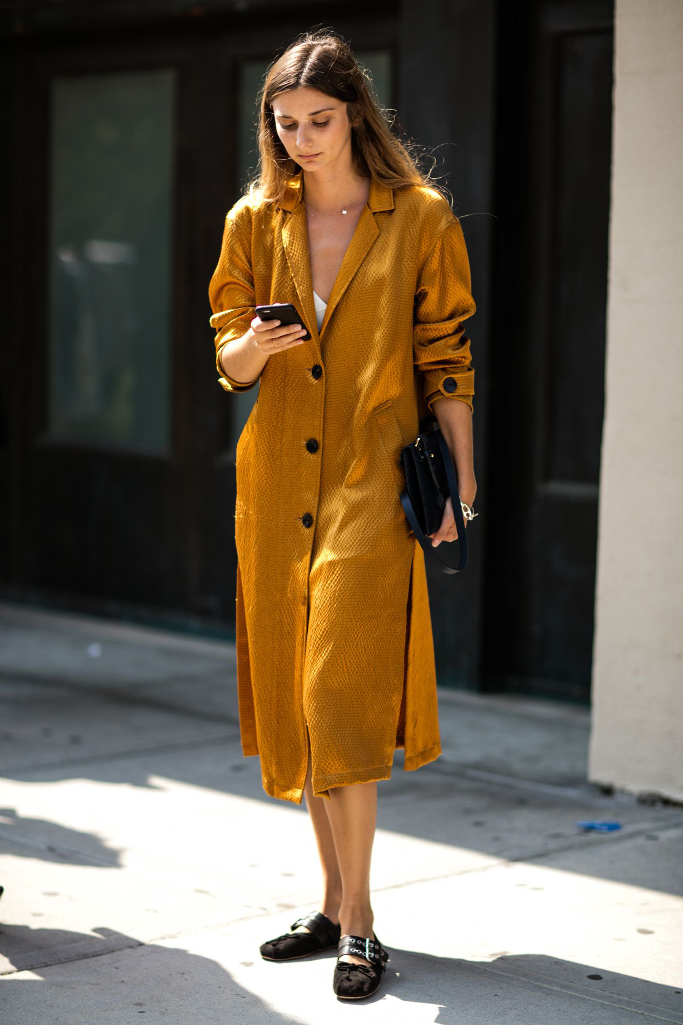 AEL Autumn Women Long Lapel Elegant Thin Golden Brown Coat Ladies Business Long Slim Outwear Loose Double Split   Trench   Coat2019
