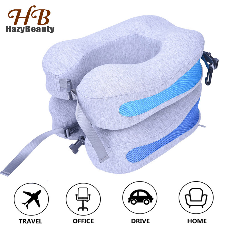 New Memory Foam Travel Neck Support Pillow Comfortable Slow Rebound U Shape Air Plane Pillow for Protect Neck Head Rest Cushion