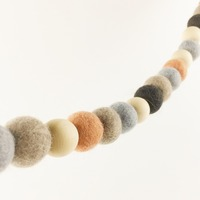 Wool Felt Balls Neutral Garland Nursery Banner Wall Mantle Decor 100pc 20mm Mint Lovely Baby Shower Gift kid Garland Toys