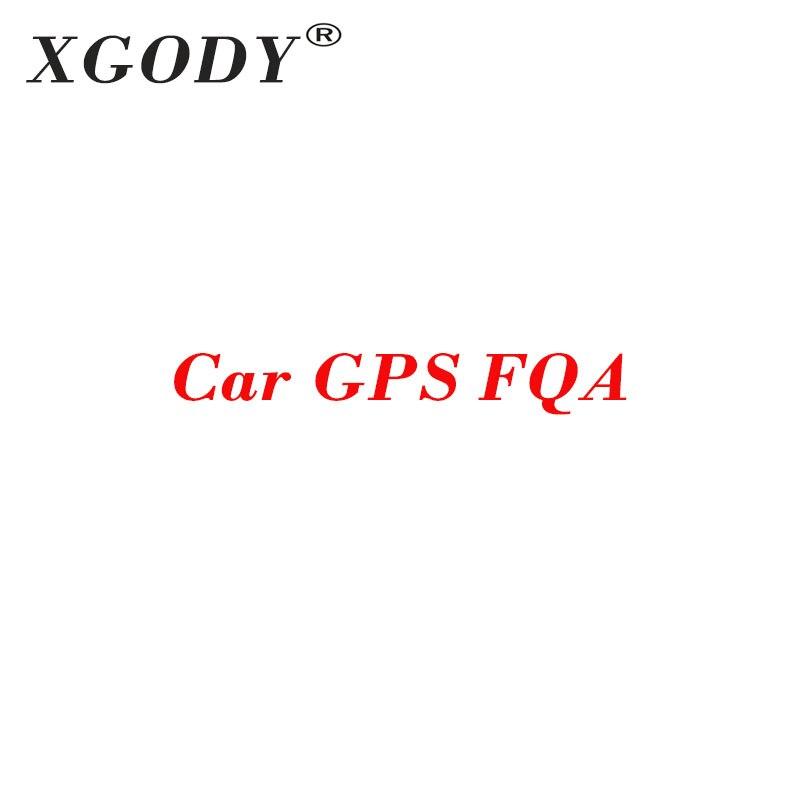 XGODY Car GPS Navigator FAQ