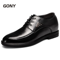 Extra Height 3.94 Taller Genuine Leather Formal Men Wedding Shoes Height Increasing Shoes Taller 10cm