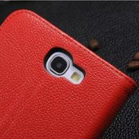 Luxury Real Genuine Leather Wallet Case For Samsung Galaxy Note 2 N7100 Note2 NoteII Flip Fashion