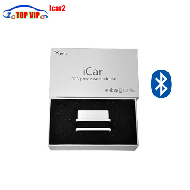 2018 New Arrival 10pcs/LOT Vgate iCar2 Bluetooth OBD Scanner iCar 2 elm327 Bluetooth Diagnostic Interface with Free Shipping