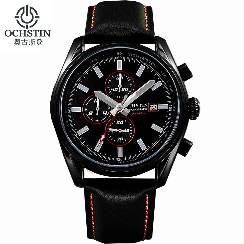 online buy whole expensive watches from expensive ochstin expensive brand watches luminous leather running mens sport watches men waterproof military army calendar chronograph