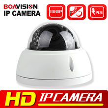 HD 1080 P 2MP a prueba de Vandalismo Cámara Domo IP POE Al Aire Libre La Noche visión IR-CUT 4x Zoom 2.8-12mm Lente de Cámara de Red Domo IP seguridad