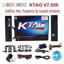 Más reciente KTAG K-TAG Maestro SW V7.020 V2.23 Utilizado En Línea K TAG 7.020 No Tokens KTAG ECU Chip Tuning Tool Mejor Que V6.070 V2.13