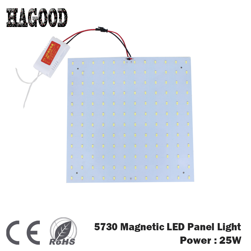 25W 5730 Square Surface Mounted Led Ceiling Lights Panel Lights Led Magnetic Aluminum Panel Board Lamps usb3 0 round type panel mounting usb connecter silver surface