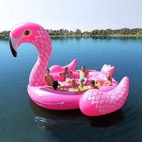 6 человек огромный надувной бассейн Фламинго поплавок 2018 Новое поступление 530 см гигантский надувной бассейн остров гостиная бассейн вечер