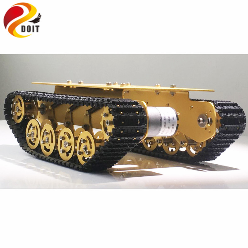Official DOIT TS100 Golden Yellow Damping Robot Tank car Chassis Suspension Caterpillar Tractor Chassis call of duty advanced warfare army