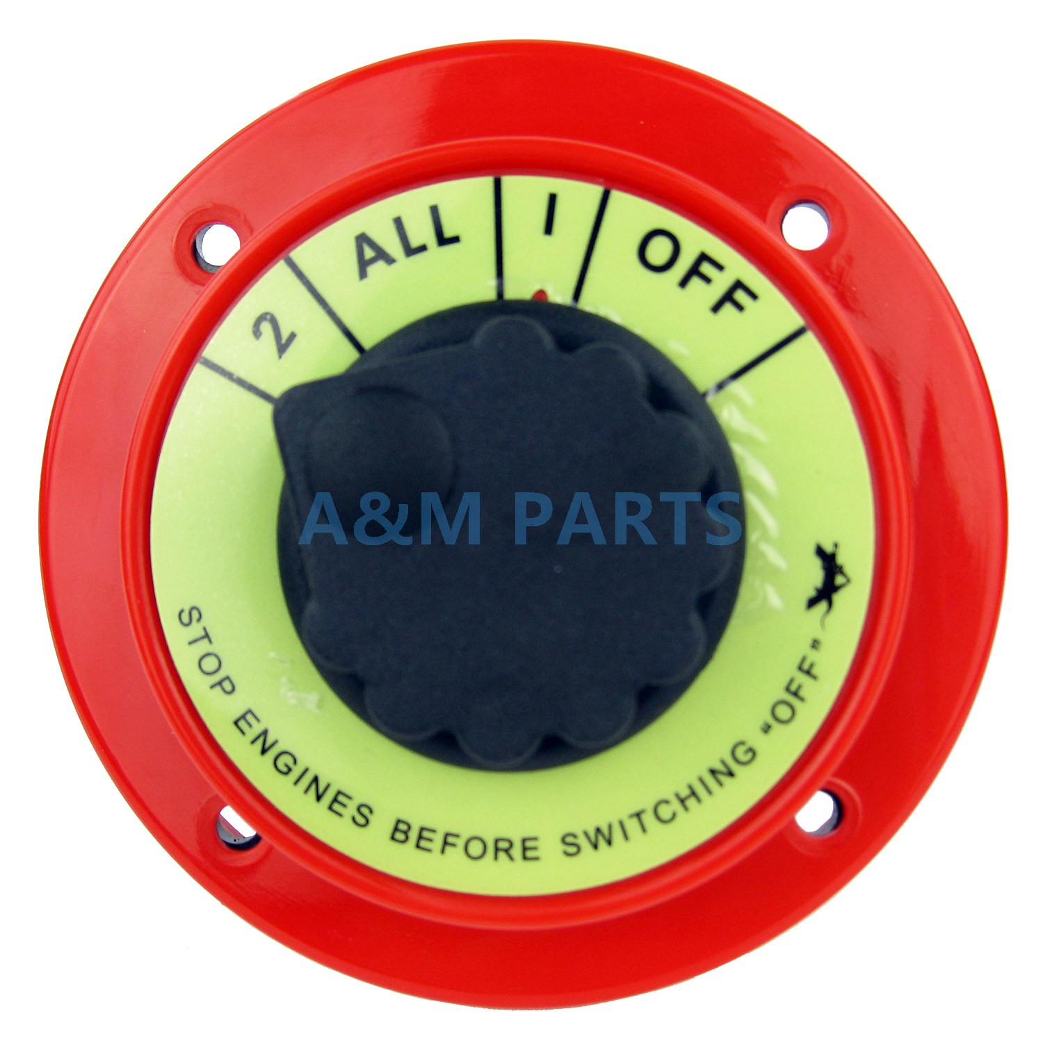 Dual Marine Battery Selector Safety Shut Off Switch 2 ALL 1 OFF 4 Position
