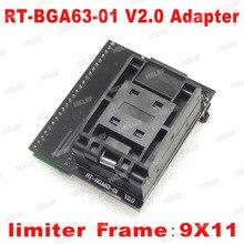 Adaptador BGA63 Fro RT809H V2.0 EMMC NW267 adaptador de RT BGA63 01 para RT809H programador 9*11 marco limitador
