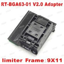 BGA63 Adattatore Fro RT809H V2.0 EMMC NW267 RT BGA63 01 Adattatore Per RT809H Programmatore 9*11 Limitatore di Telaio