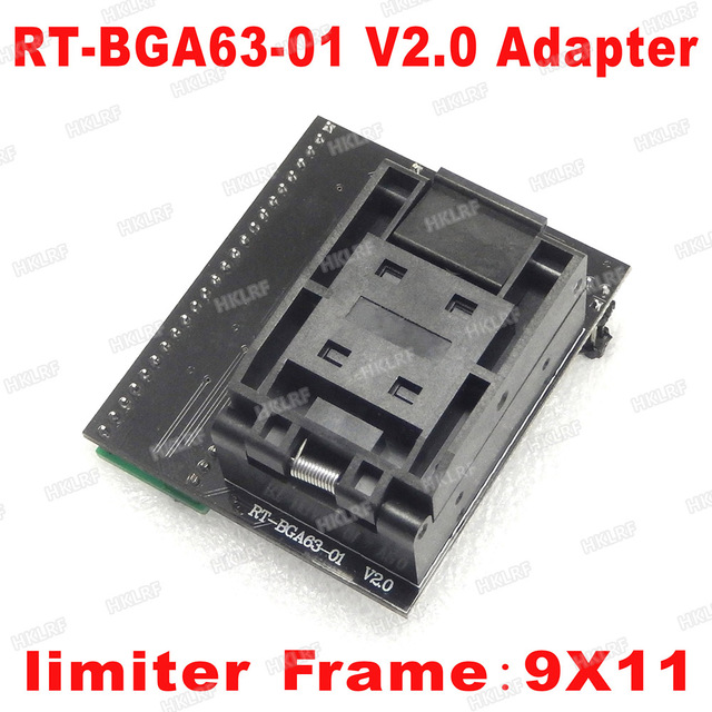 BGA63 محول جيئة وذهابا RT809H V2.0 EMMC NW267 RT BGA63 01 محول ل RT809H مبرمج 9*11 المحدد إطار