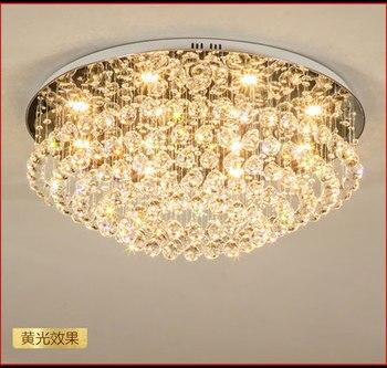 Luxo Simples Circular Luz de Teto de Cristal Lâmpadas de Moda Moderna Para O Quarto Sala de estar Iluminação Doméstica LEVOU Dhl Livre
