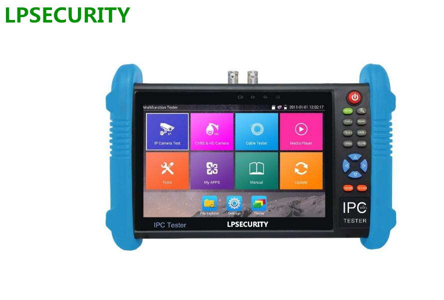LPSECURITY 4K H.265/H.264 AHD TVI HDCVI SDI IP Analog camera tester (multimeter, cable locator,TDR,HDMI input optional) 7 inch six in one cctv tester monitor ip analog ahd tvi cvi sdi camera h 265 4k onvif multimeter optical fiber tdr vfl poe 12v