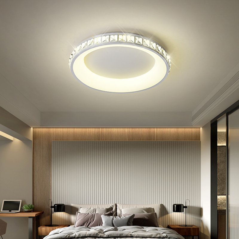 Crystal modern Led ceiling chandelier bedroom study balcony corridor square round triangle home decoration chandelier FixtureCrystal modern Led ceiling chandelier bedroom study balcony corridor square round triangle home decoration chandelier Fixture