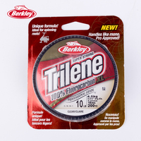 Berkley Trilene 100% Fluorocarbon XL 182m Clear Fishing Lines For Spinning Reels Super Smooth Durable Carp Fishing Pesca Tackle